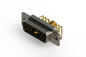 629-11W1240-4NA - Right-angle Power Combo D-Sub Connector