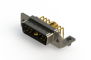 629-11W1240-4NB - Right-angle Power Combo D-Sub Connector