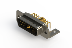 629-11W1240-4NC - Right-angle Power Combo D-Sub Connector