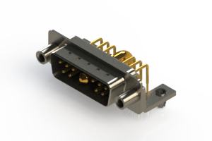 629-11W1240-4ND - Right-angle Power Combo D-Sub Connector