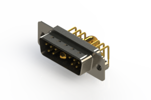 629-11W1240-4T2 - Right-angle Power Combo D-Sub Connector