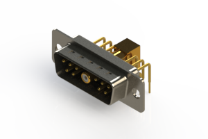 629-11W1240-5N1 - Right-angle Power Combo D-Sub Connector