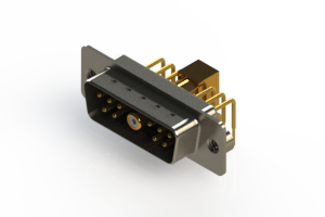 629-11W1240-5N2 - Right-angle Power Combo D-Sub Connector