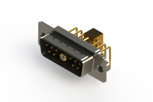 629-11W1240-5NA - Right-angle Power Combo D-Sub Connector