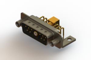 629-11W1240-7NE - Right-angle Power Combo D-Sub Connector