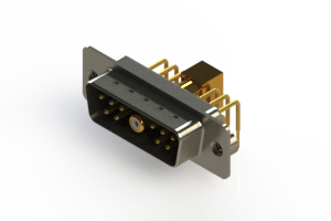 629-11W1240-7T2 - Right-angle Power Combo D-Sub Connector