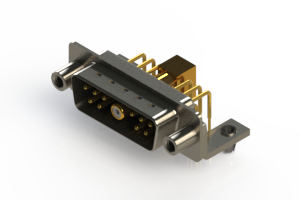 629-11W1240-7T5 - Right-angle Power Combo D-Sub Connector