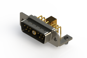 629-11W1240-7TB - Right-angle Power Combo D-Sub Connector