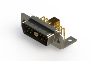 629-11W1240-7TC - Right-angle Power Combo D-Sub Connector