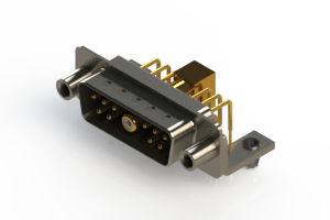 629-11W1240-7TD - Right-angle Power Combo D-Sub Connector