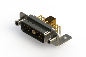 629-11W1240-7TE - Right-angle Power Combo D-Sub Connector