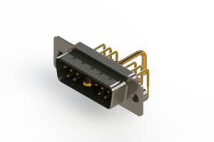 629-11W1250-1N2 - Right-angle Power Combo D-Sub Connector