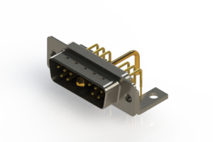 629-11W1250-1N4 - Right-angle Power Combo D-Sub Connector