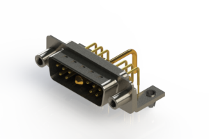 629-11W1250-1N5 - Right-angle Power Combo D-Sub Connector