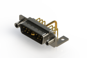 629-11W1250-1N6 - Right-angle Power Combo D-Sub Connector