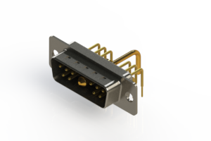 629-11W1250-1T1 - Right-angle Power Combo D-Sub Connector