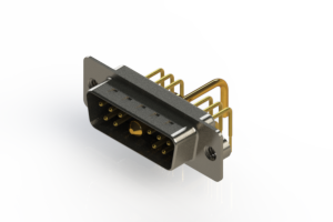 629-11W1250-1TA - Right-angle Power Combo D-Sub Connector