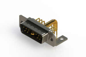 629-11W1250-4N4 - Right-angle Power Combo D-Sub Connector