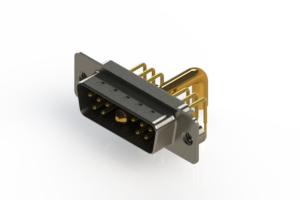 629-11W1250-4NA - Right-angle Power Combo D-Sub Connector