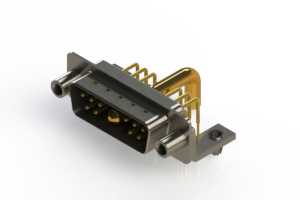 629-11W1250-4ND - Right-angle Power Combo D-Sub Connector