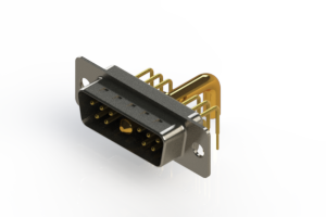 629-11W1250-4T1 - Right-angle Power Combo D-Sub Connector