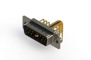 629-11W1250-4T2 - Right-angle Power Combo D-Sub Connector