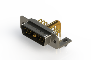 629-11W1250-4T3 - Right-angle Power Combo D-Sub Connector