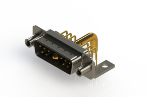 629-11W1250-4TE - Right-angle Power Combo D-Sub Connector