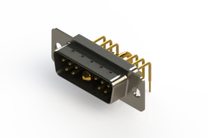 629-11W1640-1N1 - Right-angle Power Combo D-Sub Connector