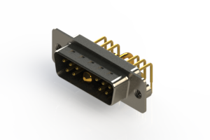 629-11W1640-1T2 - Right-angle Power Combo D-Sub Connector