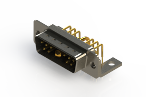 629-11W1640-1TC - Right-angle Power Combo D-Sub Connector