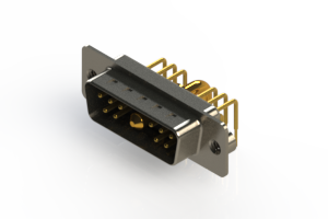 629-11W1640-2N2 - Right-angle Power Combo D-Sub Connector