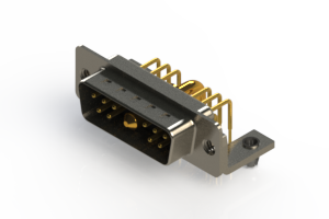 629-11W1640-2NB - Right-angle Power Combo D-Sub Connector