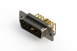 629-11W1640-3NA - Right-angle Power Combo D-Sub Connector