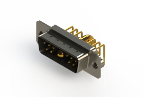 629-11W1640-4NA - Right-angle Power Combo D-Sub Connector