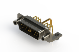 629-11W1650-1ND - Right-angle Power Combo D-Sub Connector