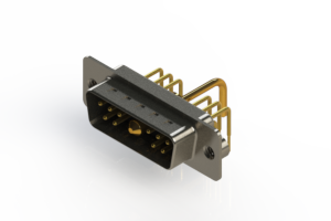 629-11W1650-1T2 - Right-angle Power Combo D-Sub Connector