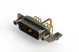 629-11W1650-1T5 - Right-angle Power Combo D-Sub Connector
