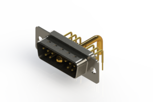 629-11W1650-2N1 - Right-angle Power Combo D-Sub Connector