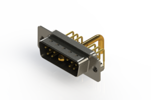 629-11W1650-2N2 - Right-angle Power Combo D-Sub Connector