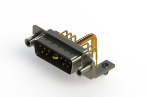 629-11W1650-2N5 - Right-angle Power Combo D-Sub Connector