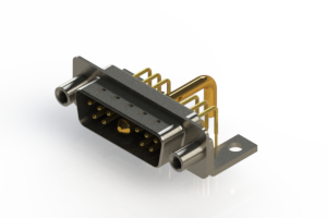 629-11W1650-2N6 - Right-angle Power Combo D-Sub Connector