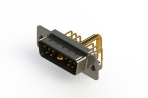 629-11W1650-2NA - Right-angle Power Combo D-Sub Connector