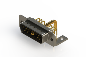 629-11W1650-2NC - Right-angle Power Combo D-Sub Connector
