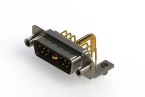 629-11W1650-2ND - Right-angle Power Combo D-Sub Connector
