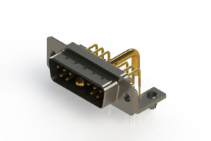 629-11W1650-2T3 - Right-angle Power Combo D-Sub Connector