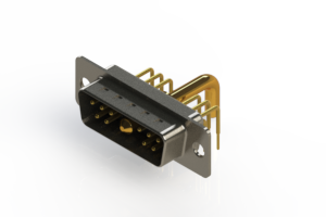 629-11W1650-3N1 - Right-angle Power Combo D-Sub Connector