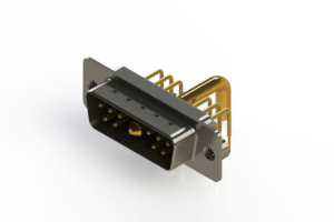 629-11W1650-3N2 - Right-angle Power Combo D-Sub Connector