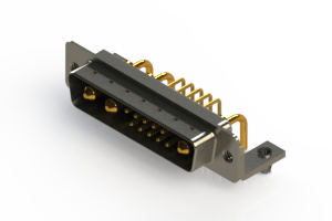 629-13W3240-1N3 - Right-angle Power Combo D-Sub Connector
