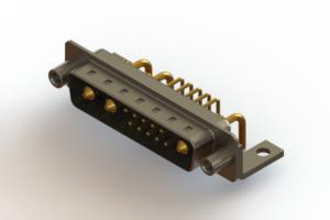 629-13W3240-1NE - Right-angle Power Combo D-Sub Connector